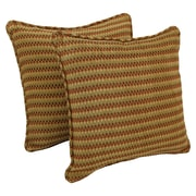 Blazing Needles 18-inch Corded Autumn Gingham Jacquard Chenille Throw Pillow (Set of 2)