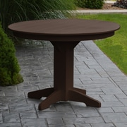 A&L Furniture Dining Table; Tudor Brown