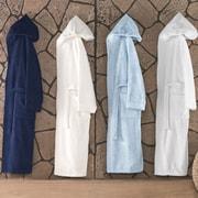 Enchante Home Turkish Cotton Hooded Bathrobe; Baby Blue