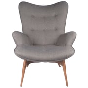 Design Tree Home Featherston Style Contour Lounge Chair; Gray