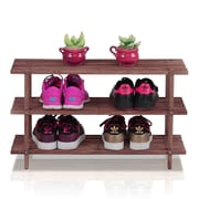 Wildon Home   Pine Solid Wood 3-Tier Shoe Rack