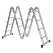 HomCom 15.5 ft Aluminum Extension Ladder
