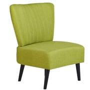 Gold Sparrow Fontana Side Chair; Lime