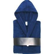 Enchante Home Turkish Cotton Hooded Bathrobe; Navy Blue