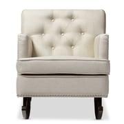 Wholesale Interiors Baxton Studio Rocking Chair; Light Beige