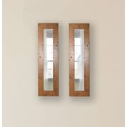 Rayne Mirrors Molly Dawn Light Walnut Rustic Mirror Panels (Set of 2); 35.5'' H x 9.5'' W x 0.75'' D
