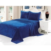 Anna Ricci Velvet Soft Full Sheet Set; Dark Blue