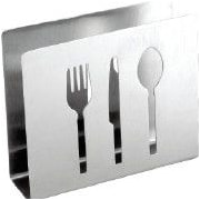 Cuisinox Cuisinox Stainless Steel Cocktail Napkin Holder w/ Flatware Cut-outs