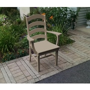 A&L Furniture Poly Ladderback Dining Arm Chair; Weathered Wood