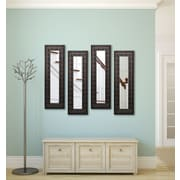 Rayne Mirrors Molly Dawn Feathered Accent Mirror Panels (Set of 4); 40.5'' H x 16.5'' W x 0.75'' D