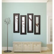 Rayne Mirrors Molly Dawn Feathered Accent Mirror Panels (Set of 4); 22.5'' H x 10.5'' W x 0.75'' D