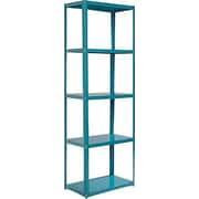 Sauder Soft Modern 69.72'' Standard Bookcase; Peacock Blue