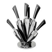 Prime Cook 8 Piece Kitchen Knife Set; Black