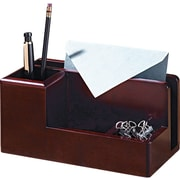 Rolodex Wood Tones Desk Organizer in Mahogany