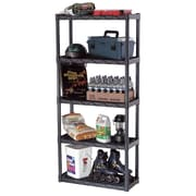 Plano Five Shelf Heavy Duty Shelving Unit; 74'' H x 34'' W x 14'' D