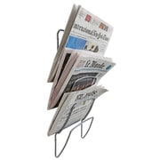 Alba Wall Rack with 5 Compartments, Metal Gray (DDNEWS5)