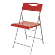 Alba Smile Folding Chair, 2 Pieces/Set, Red (CPSMILER)