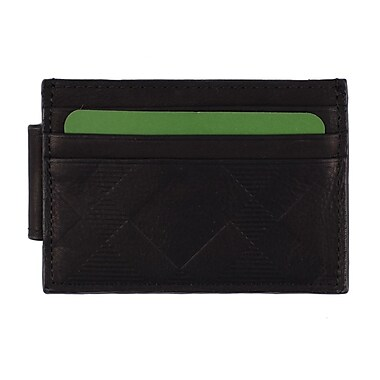 Roots RFID Money Clip Wallet, Mens, Black, RT202MC-10-B