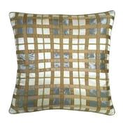 Edie Inc. Belgravia Plaid Throw Pillow; Cream / Mineral / Taupe