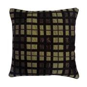 Edie Inc. Belgravia Plaid Throw Pillow; A.Gold / Choc / Black