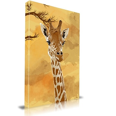 Maxwell Dickson ''Giraffe'' Graphic Art on Canvas; 24'' H x 36'' W