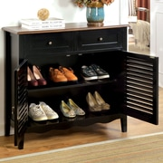Hokku Designs Soniya Shoe Cabinet; Black