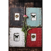Creative Co-Op 4 Piece Embossed Metal Photo Picture Frame Set (Set of 4)