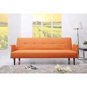 Gold Sparrow Westminster Convertible Sofa; Orange
