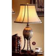 OK Lighting Bahama Col. 31.5'' H Table Lamp with Bell Shade