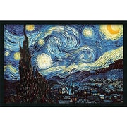 Buy Art For Less 'The Starry Night, June 1889' by Vincent Van Gogh Framed Graphic Art