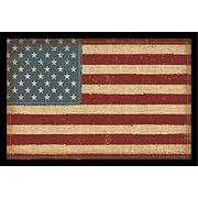 Buy Art For Less 'USA Strong American Flag- Primative Stars & Stripes  Framed Graphic Art