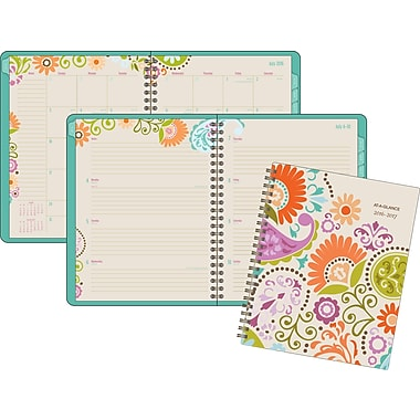 At-A-Glance® 2016/2017 Garden Party Weekly/Monthly Planner with Monthly Tabs, 8-1/2