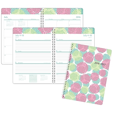 Staples® 2016/2017 Floral Weekly/Monthly Planner, 8