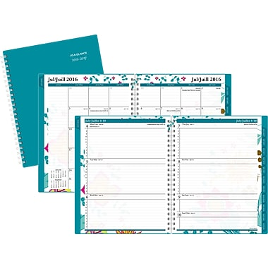 At-A-Glance® 2016/2017 Evelina Weekly/Monthly Academic Planner, 8-1/2