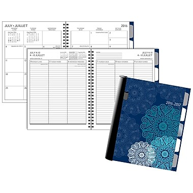 Staples® 2016/2017 Medallions Weekly/Monthly Academic Planner, 6-7/8