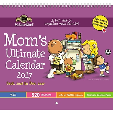 MotherWord 2016/2017 Monthly Wall Calendar, 12