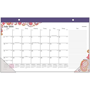 At-A-Glance® 2016/2017 Sugar Plum Academic Compact Desk Pad, 18