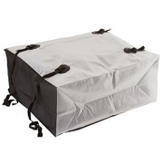 Summit (RBG-08-2) ,10 cubic ft. Two-Tone Waterproof Roof Cargo Bag (White & Black)