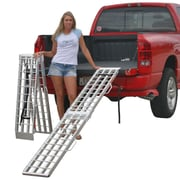"Discount Ramps (SF-9012-2A) ,90"" Aluminum Folding Loading Ramps for Garden Equipment, Lawn Tractors and ATV"