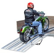 """Discount Ramps (M-8440) ,84"""" Arched Full Size Aluminum Non-Folding 3-Piece Motorcycle Ramp System"""