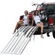 """Discount Ramps (M-9540) ,95"""" Arched Full Size Aluminum Non-Folding Motorcycle Ramp System"""