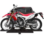 Black Widow (MCC-500) ,Hitch Mounted Off-Road Dirt Bike Motorcycle Carrier Rack with Ramp