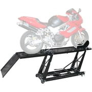 Black Widow (BW-550) ,Hydraulic 1,000 lb Motorcycle Scissor Lift Table with Chock