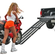 "Black Widow (BW-10817-HD) ,108"" x 17"" Extra Wide Aluminum Folding Single Runner Motorcycle Ramp"