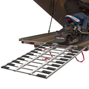 "Black Ice (SNO-TF-7754) ,Aluminum Snowmobile Trailer Loading Ramp with Grip Glides 77"" x 54"""