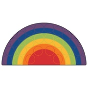 Carpets for Kids Printed Rainbow Rows Corner Area Rug; Square 6'
