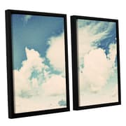 ArtWall Clouds on a Beautiful Day by Elena Ray 2 Piece Framed Painting Print on Canvas Set