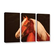 ArtWall Horse Painted by Lindsey Janich 3 Piece Painting Print on Gallery-Wrapped Canvas Set