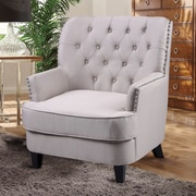 BestMasterFurniture Arm Chair; Taupe