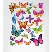 Innovative Stencils Easy Peel and Stick Colorful Butterflies Nursery Wall Decal